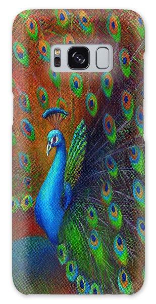 Iridescent Galaxy Case - Peacock Spread by Nancy Tilles