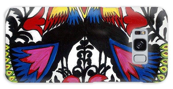 Peacock Tree Polish Folk Art Galaxy Case by Ania M Milo
