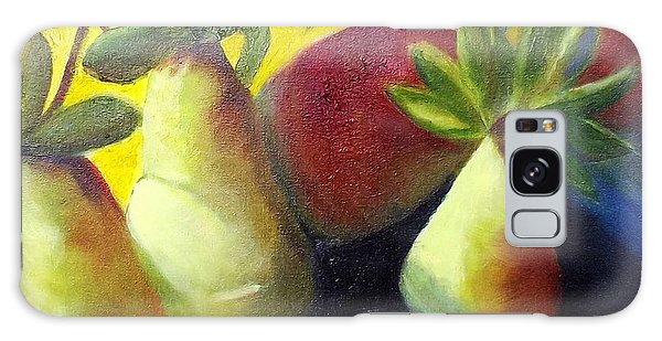 Pears In Sunshine Galaxy Case by Margaret Harmon