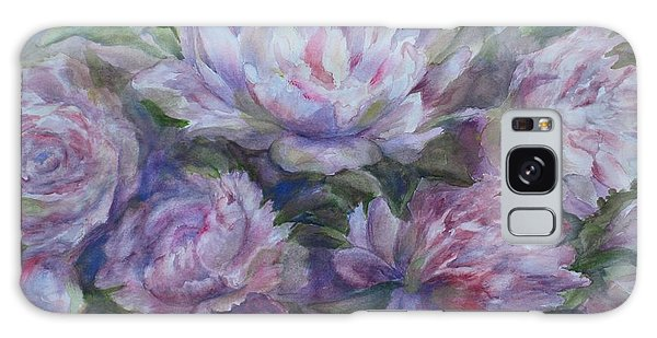 Peonies Galaxy Case by Bonnie Goedecke