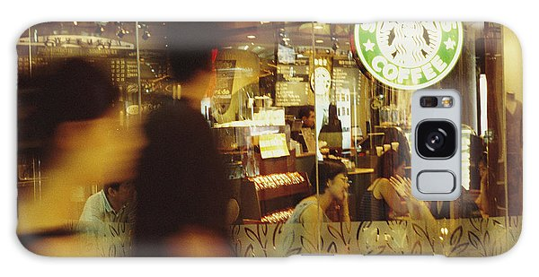 People's Republic Of China Galaxy Case - People At One Of The First Starbucks by Justin Guariglia