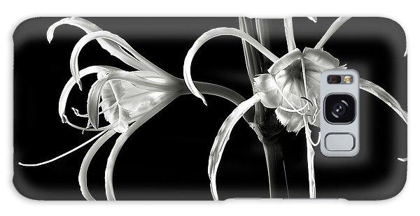 Peruvian Daffodil In Black And White Galaxy Case