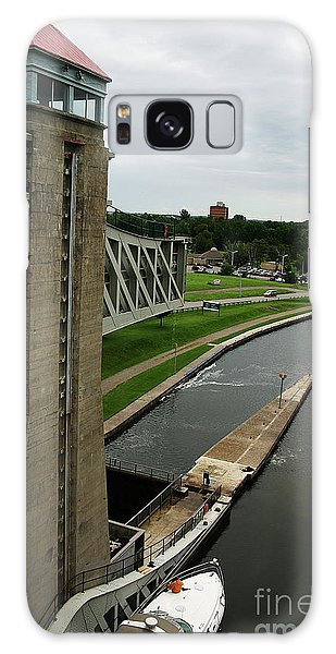 Peterborough Lift Lock Galaxy Case by Alyce Taylor