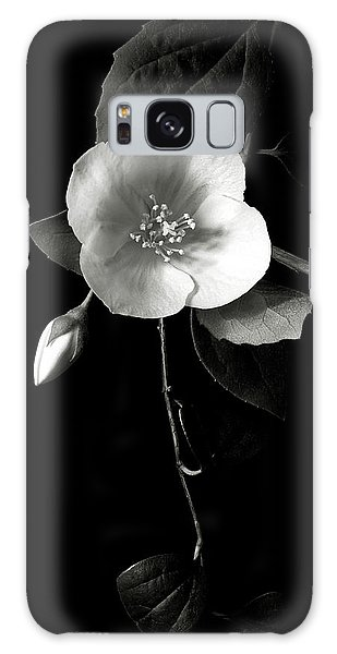 Philadelphus In Black And White Galaxy Case