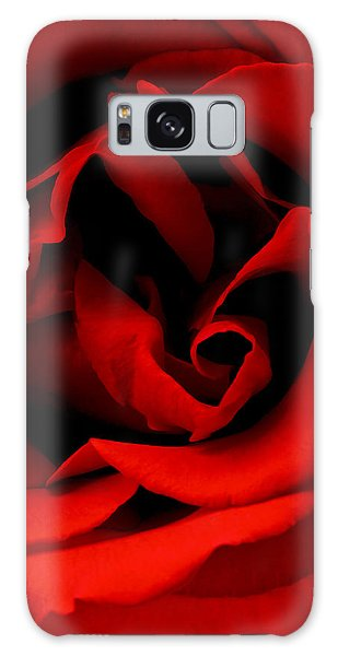 Photograph Of A Red Rose Galaxy Case