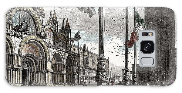 Piazza San Marco In Venice Galaxy Case by Raffaella Lunelli