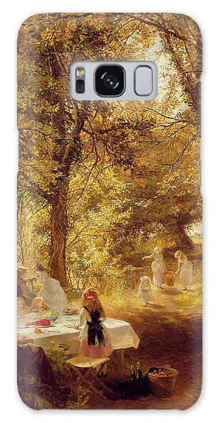 Picnic Table Galaxy Case - Picnic by Charles James Lewis