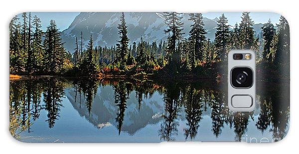 Picture Lake - Heather Meadows Landscape In Autumn Art Prints Galaxy Case by Valerie Garner