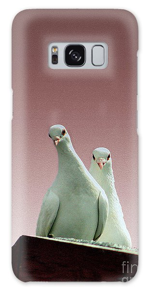 Pigeons In The Pink Galaxy Case by Linsey Williams