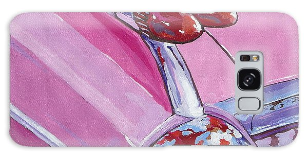 Pink Cadillac Galaxy Case by Sandy Tracey