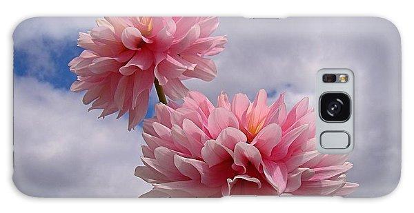Pink Dahlia Galaxy Case by Nick Kloepping