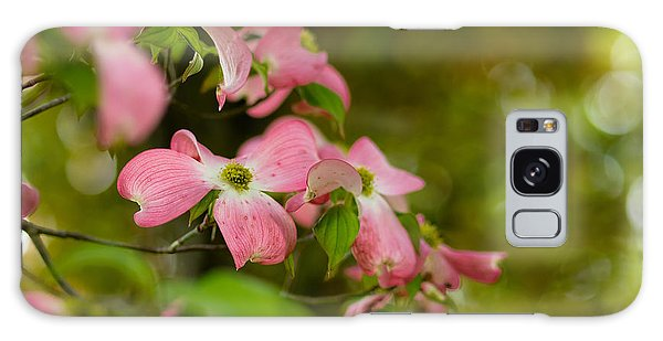 Pink Dogwood Blooms Galaxy Case