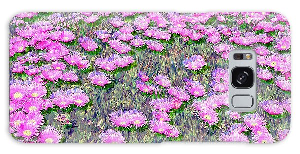 Pink Ice Plant Flowers Galaxy Case