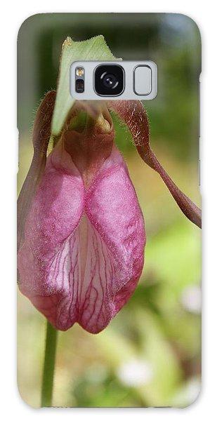Pink Lady Slipper Galaxy Case