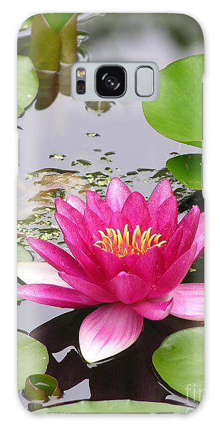 Lily Galaxy Case - Pink Lily Flower  by Diane Greco-Lesser
