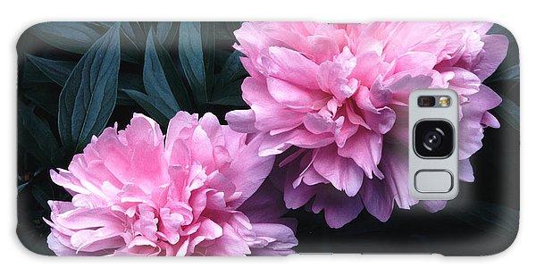 Pink Peony Pair Galaxy Case by Tom Wurl