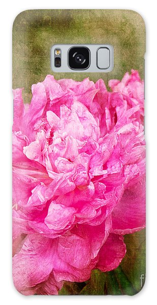 Pink Peony Texture 3 Galaxy Case