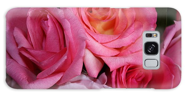 Pink Roses Galaxy Case by Robin Regan