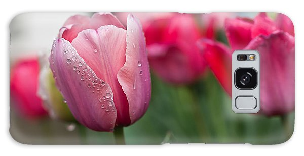 Pink Tulips With Water Drops Galaxy Case