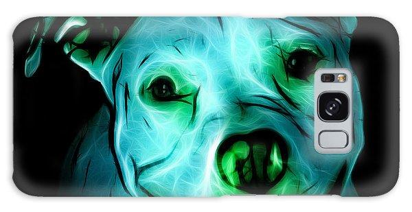 Pitbull Terrier - F - S - Bb - Cyan Galaxy Case