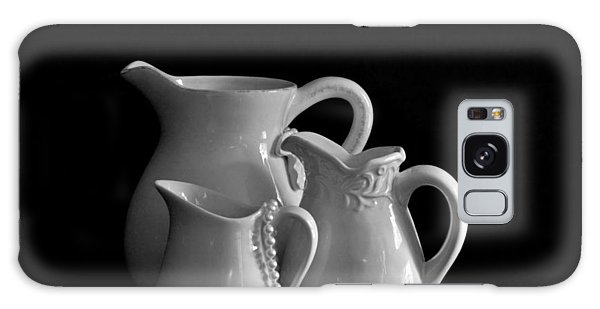 Pitchers By The Window In Black And White Galaxy Case by Sherry Hallemeier