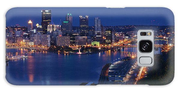 Pittsburgh In Blue Galaxy Case