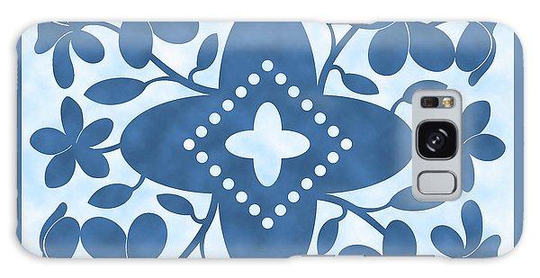 Plumeria Hawaiian Quilt Block Galaxy Case