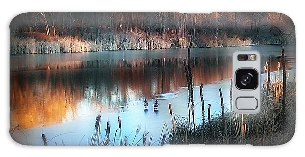 Pond Creek Galaxy Case by Michelle Frizzell-Thompson