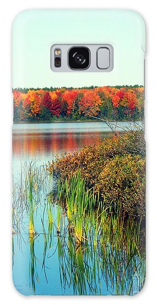 Pond In The Woods In Autumn Galaxy Case