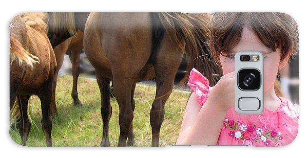 Ponies In Chincoteague Galaxy Case by Julie VanDore