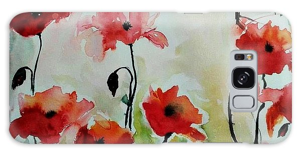 Poppies Meadow - Abstract Galaxy Case by Ismeta Gruenwald