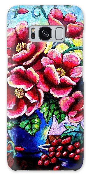 Poppin' Poppies Galaxy Case