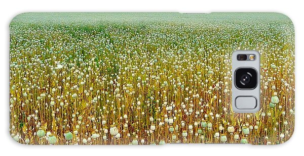 Poppy Fields Forever Galaxy Case by Rdr Creative