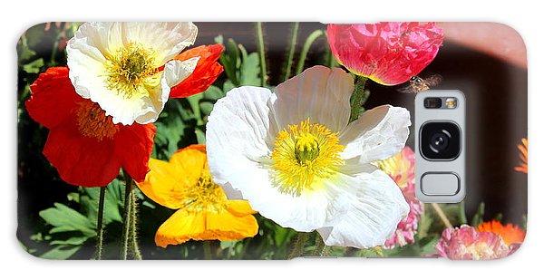 Poppy Galore Galaxy Case by M Diane Bonaparte