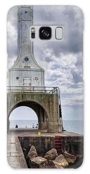 Catwalk Galaxy S8 Case - Port Washington Lighthouse by Joan Carroll