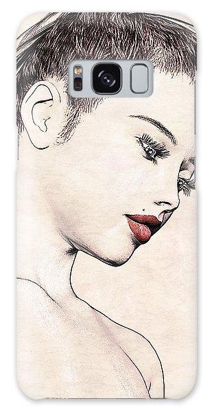 Portrait - No. 10 - Red Lips Galaxy Case