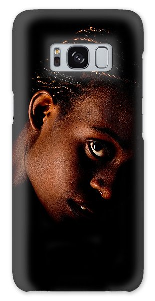 Portrait Of A Black Woman Galaxy Case