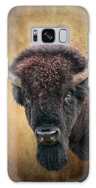 Portrait Of A Buffalo Galaxy Case by Tamyra Ayles