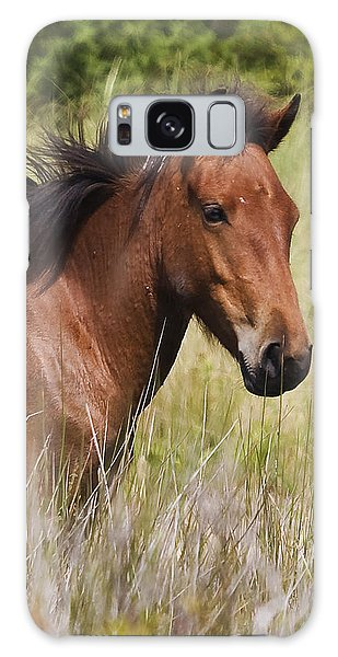 Portrait Of A Spanish Mustang Galaxy Case