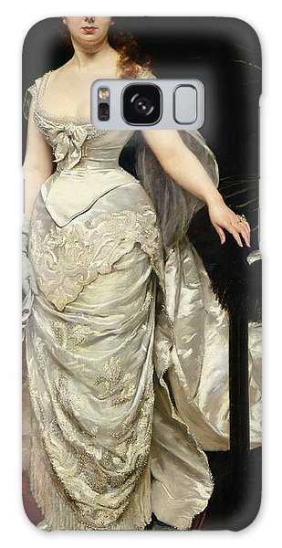 Banister Galaxy Case - Portrait Of Mademoiselle X by Charles Emile Auguste Carolus Duran