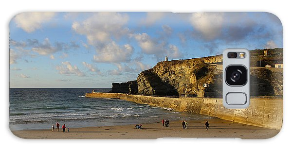 Portreath Beach Galaxy Case by Ken Brannen