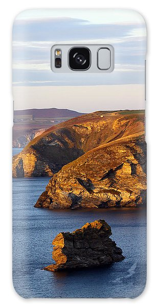 Portreath North Cliffs Galaxy Case by Ken Brannen