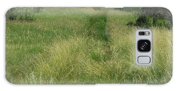 Prairie Trail In High Grass Galaxy Case by Jim Sauchyn