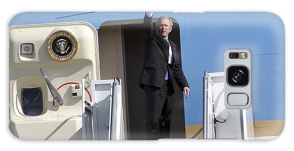 President George Bush Waves Good-bye Galaxy Case