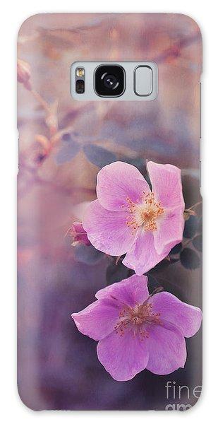 Pink Flower Galaxy Case - Prickly Rose by Priska Wettstein