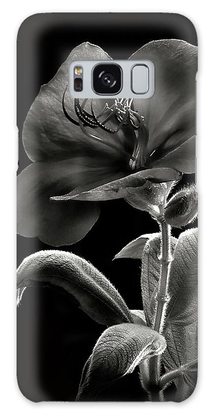 Princess Flower In Black And White Galaxy Case