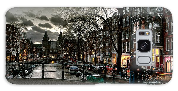 Prinsengracht And Spiegelgracht. Amsterdam Galaxy Case
