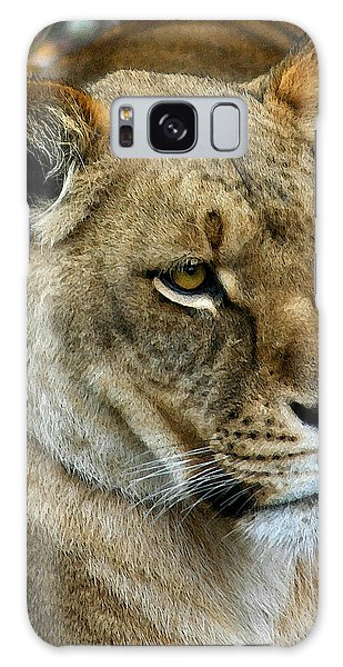 Proud Lioness Galaxy Case by Cindy Haggerty