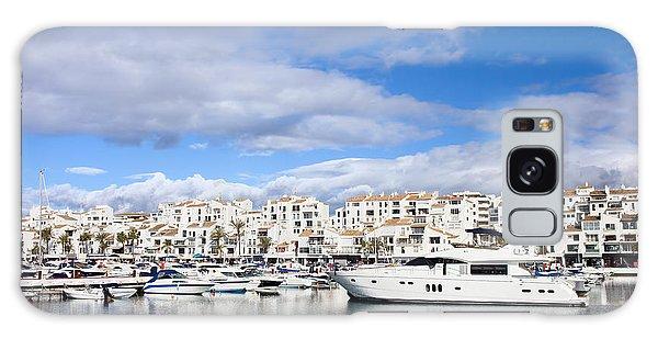 Powerboat Galaxy Case - Puerto Banus In Spain by Artur Bogacki