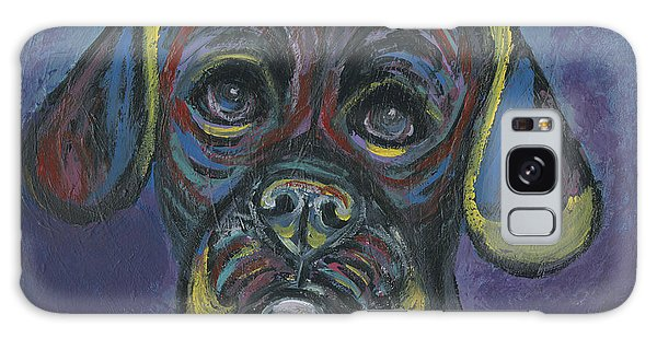 Puggle In Abstract Galaxy Case